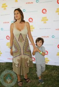 Mariska Hargitay and son August