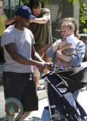 Taye Diggs with wife Idina Menzel and son Walker