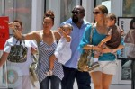 Jennifer Lopez with nanny and bodyguard