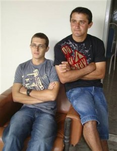 Dimas Jose Aliprandi, left, and Elton Plaster right