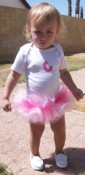 Custom bodysuit with built in tutu and initial