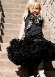 jet black Angel's Face Petti skirt