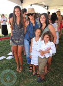 Donna Karan and family