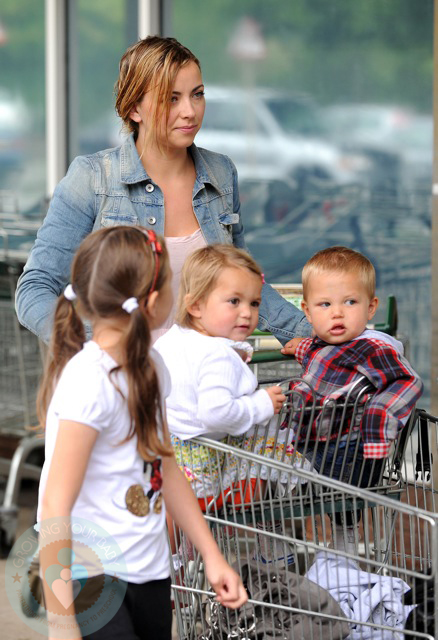Charlotte Church with daughter Ruby and son Dexter