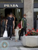 Milla Jovovich, daughter Ever and husband Paul Anderson