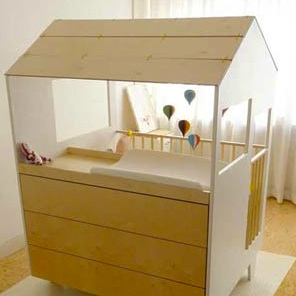 Nina's House by Dave Keune ~ A baby's house within a house!
