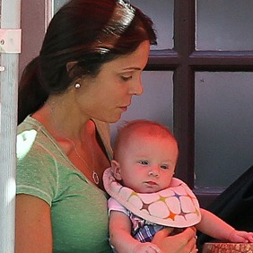 Bethenny Frankel, Jason Hoppy and Baby Bryn Lunch in Tribeca