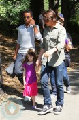 Tom Cruise with Suri, Isabella(behind) and Connor