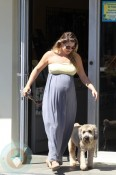 Ali Larter and her newly groomed dog!