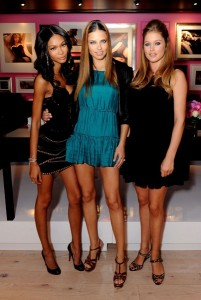 Chanel Iman, Adriana Lima and Doutzen Kroes