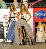Gisele walking the runway for Fashion's Night Out at Lincoln Square (September 7, 2010)