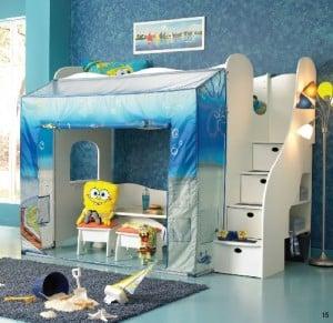 Nickelodeon Rooms Spongebob Loft Bed