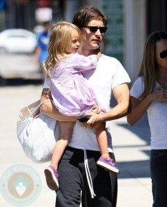 Tobey Maguire with daughter Ruby