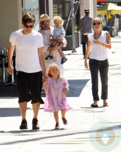 Tobey Maguire with Family