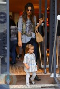 Alessandra Ambrosio with daughter Anja Mazur