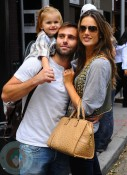 Alessandra Ambrosio with daughter Anja and finace Jamie Mazur