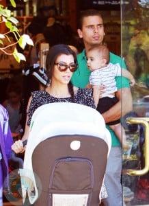 Kourtney Kardashian with boyfriend Scott and son Mason