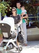 Kourtney Kardashian with boyfriend Scott and son Mason
