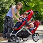 Britax B-Ready - double seats 'stacked' (facing out)