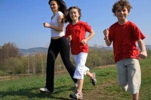 children jogging