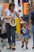 Julianna Margulies with son Kieran Lieberthal