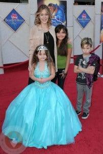 Shanna Moakler with kids Atiana, Landon and Alabama