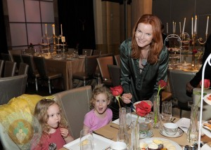 Marcia Cross with daughters Eden and Savannah