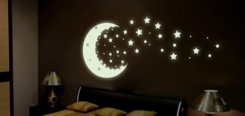 MoonShine for walls (38 glow stars and a moon)