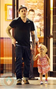 Joel Madden With daughter Harlow