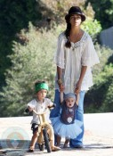 Camila Alves with son Levi and daughter Vida