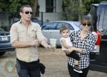 Cam Gigandet and Dominique Geisendorff with daughter Everleigh