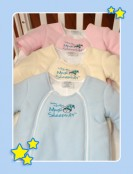 Merlin's Magic Sleep Suit Blue Yellow Pink
