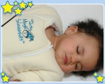 Sleeping Baby in Baby Merlin's Magic Sleep Suit
