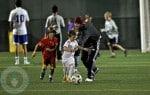 David Beckham with sons Romeo and Cruz