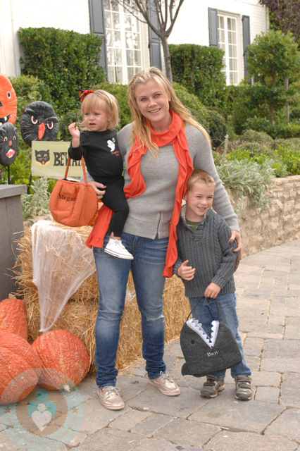 Alison Sweeney with kids Ben and Megan