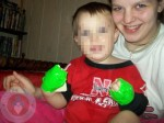 Nebraska toddler with his mom Jayla Hamm
