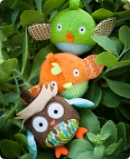 Treetop Owl & Friends Ball Trio