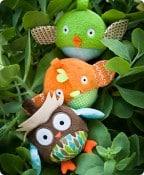 Treetop Owl & Friends Ball Trio