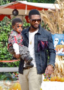 Usher with his youngest son Naviyd