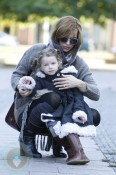 Milla Jovovich and daughter Ever