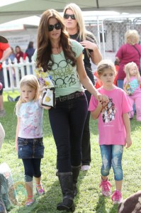Denise Richards with daughters Sam & Lola