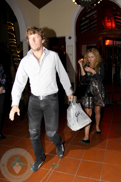 Pregnant Paulina Rubio and her husband Nicolas Vallejo