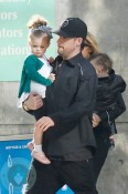 Nicole Richie & Joel Madden with Harlow & Sparrow Madden