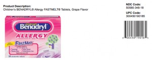 Benadryl Allergy Fastmelt grape tabs