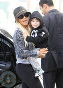 Christina Aguilera and son Max