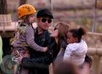 Brad Pitt with Shiloh & Angelina Jolie with daughter Zahara
