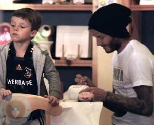 David Beckham with son Cruz
