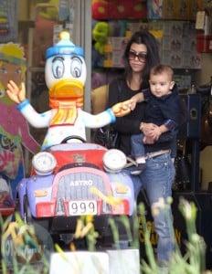 Kourtney Kardashian with son Mason