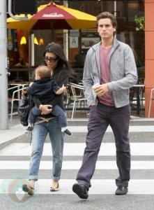 Kourtney Kardashian & Scott Disick with son Mason