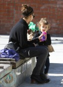 Jessica Alba with daughter Honor Warren